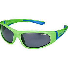 Alpina Flexxy Gafas Niños, neon green-blue